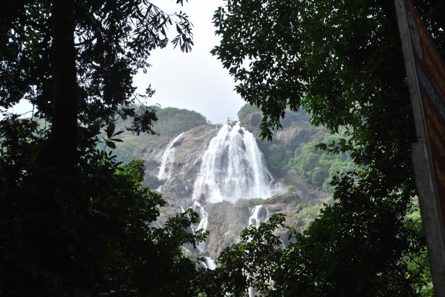 Dudhsagar falls view from bottom side