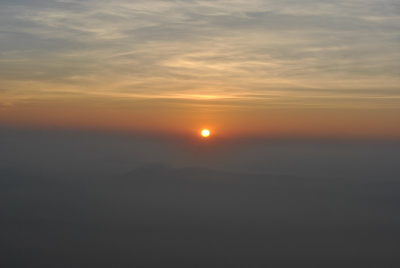 Sunrise seen from KP
