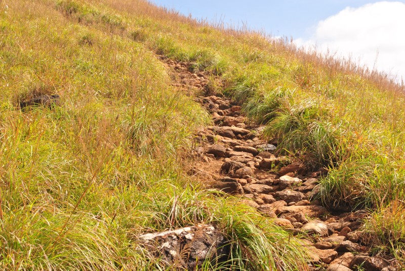 Trek route after Kallu Mantapa