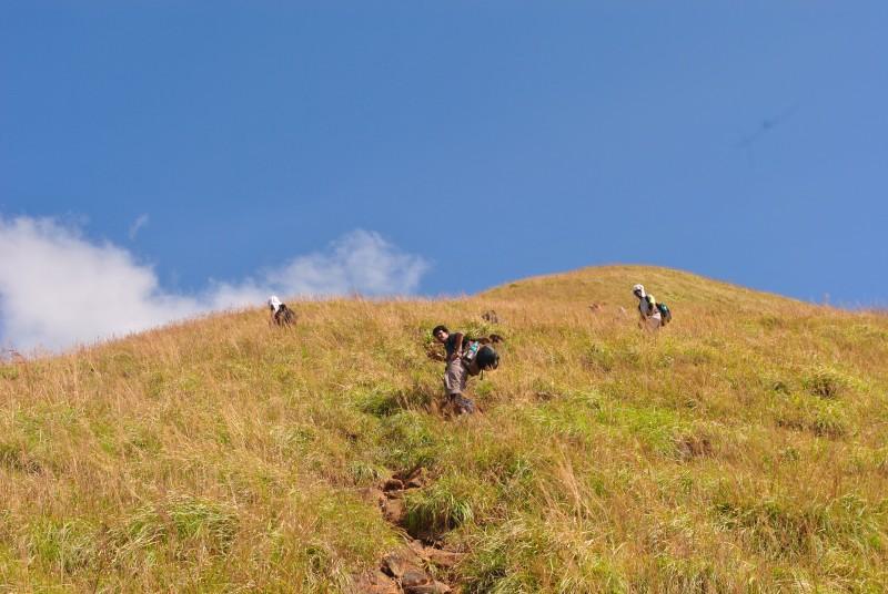 After Kallu mantapa trek trail becomes steeper
