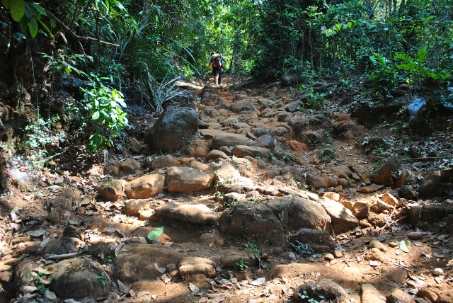 Narasimha Parvata Trek route after trekking 1 KMS, Water stream during monsoon ??