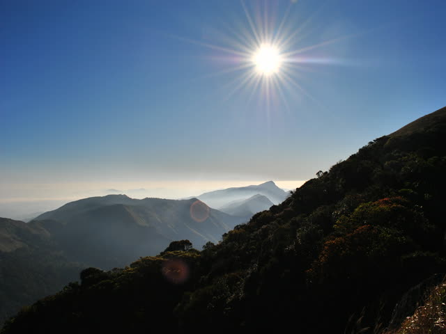 Tadiandamol trek: Just tried to focus sun :) (This photo is not edited/processed one)