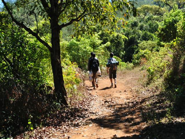 Tadiandamol trek: Initial trek route